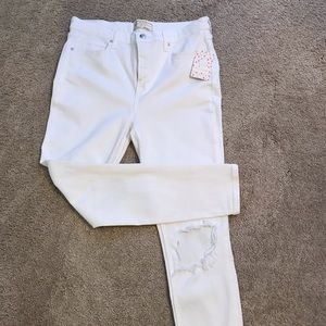 Free People Women's size 31 new w tags white jeans
